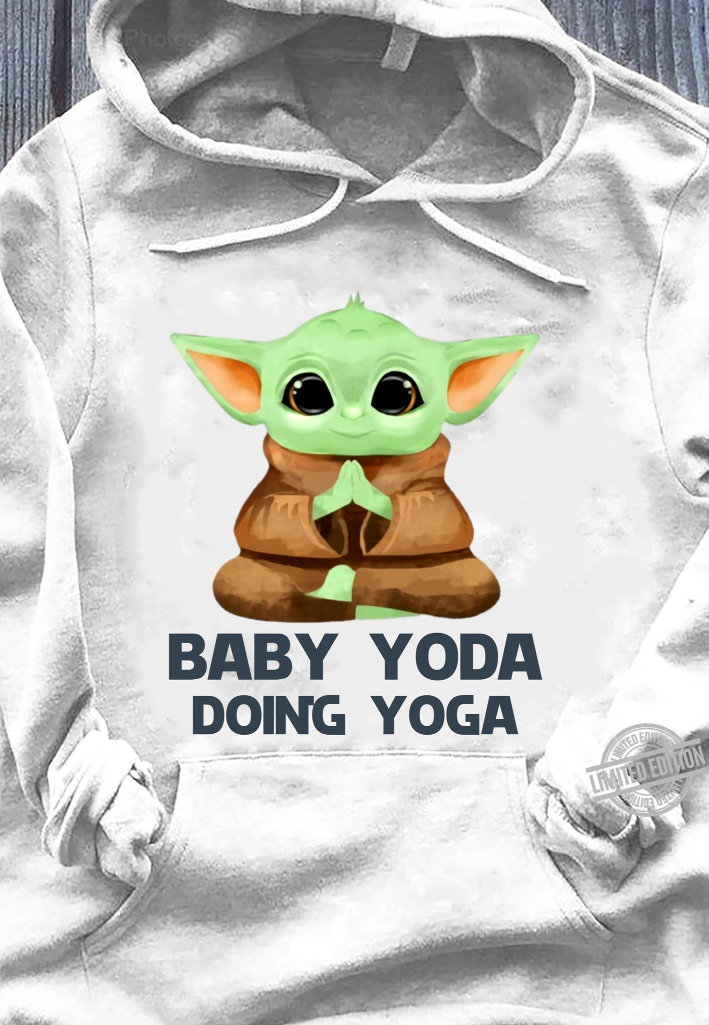 Baby Yoda Doing Yoga Shirt