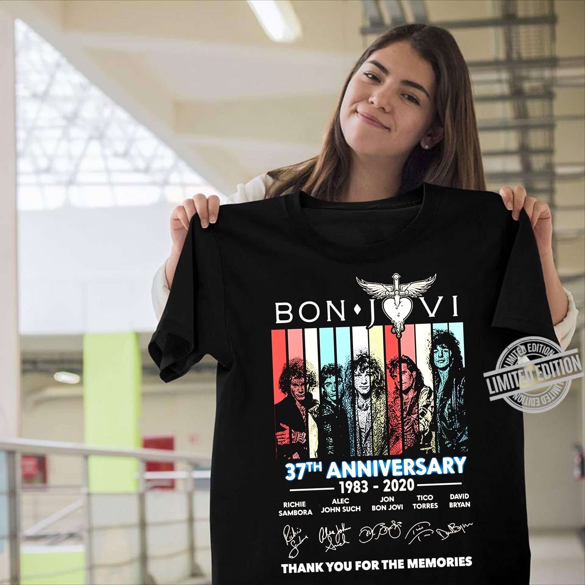 Bon Javi 37th Anniversary 1983 2020 Thank You For The Memories Shirt