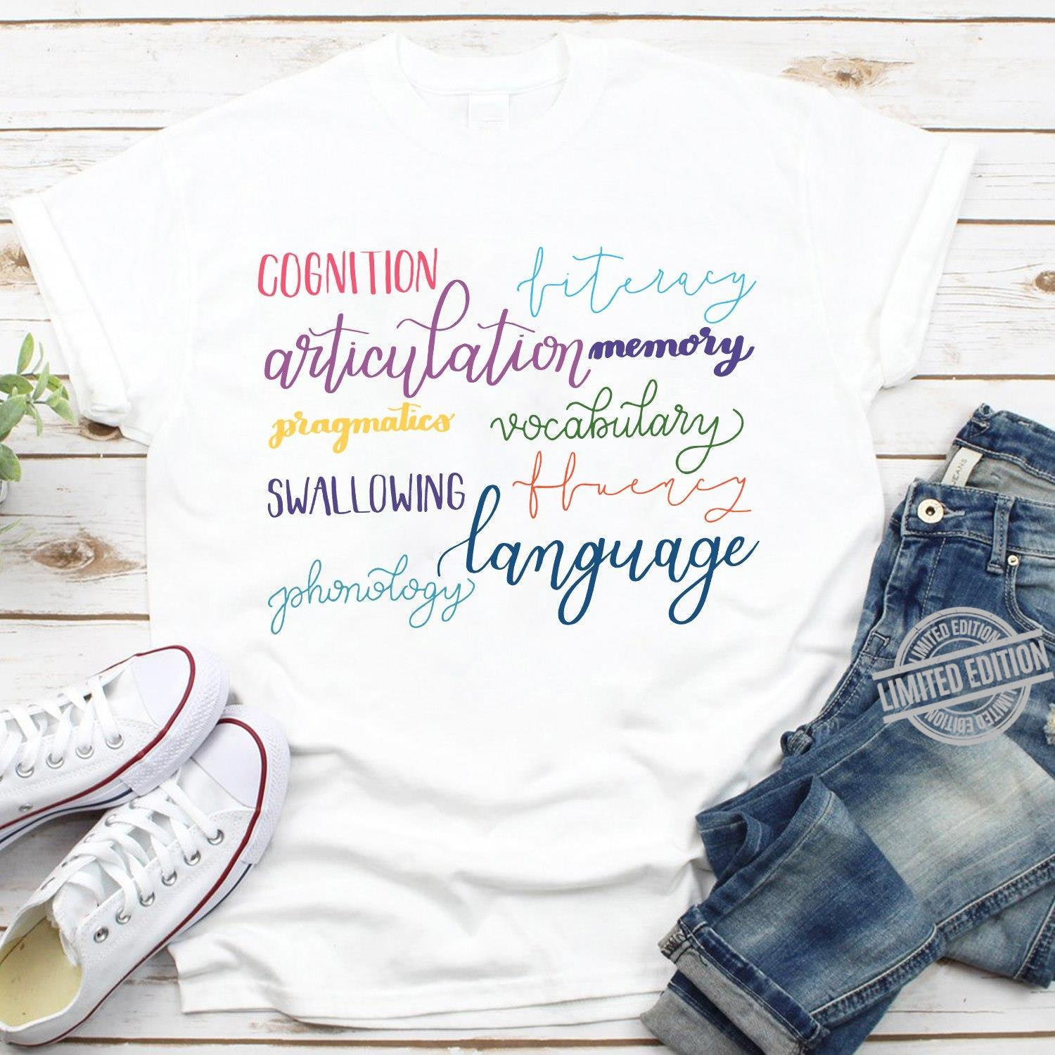 Cognition Articulation Memory Pragmatics Vocabulary Swallowing Language Shirt